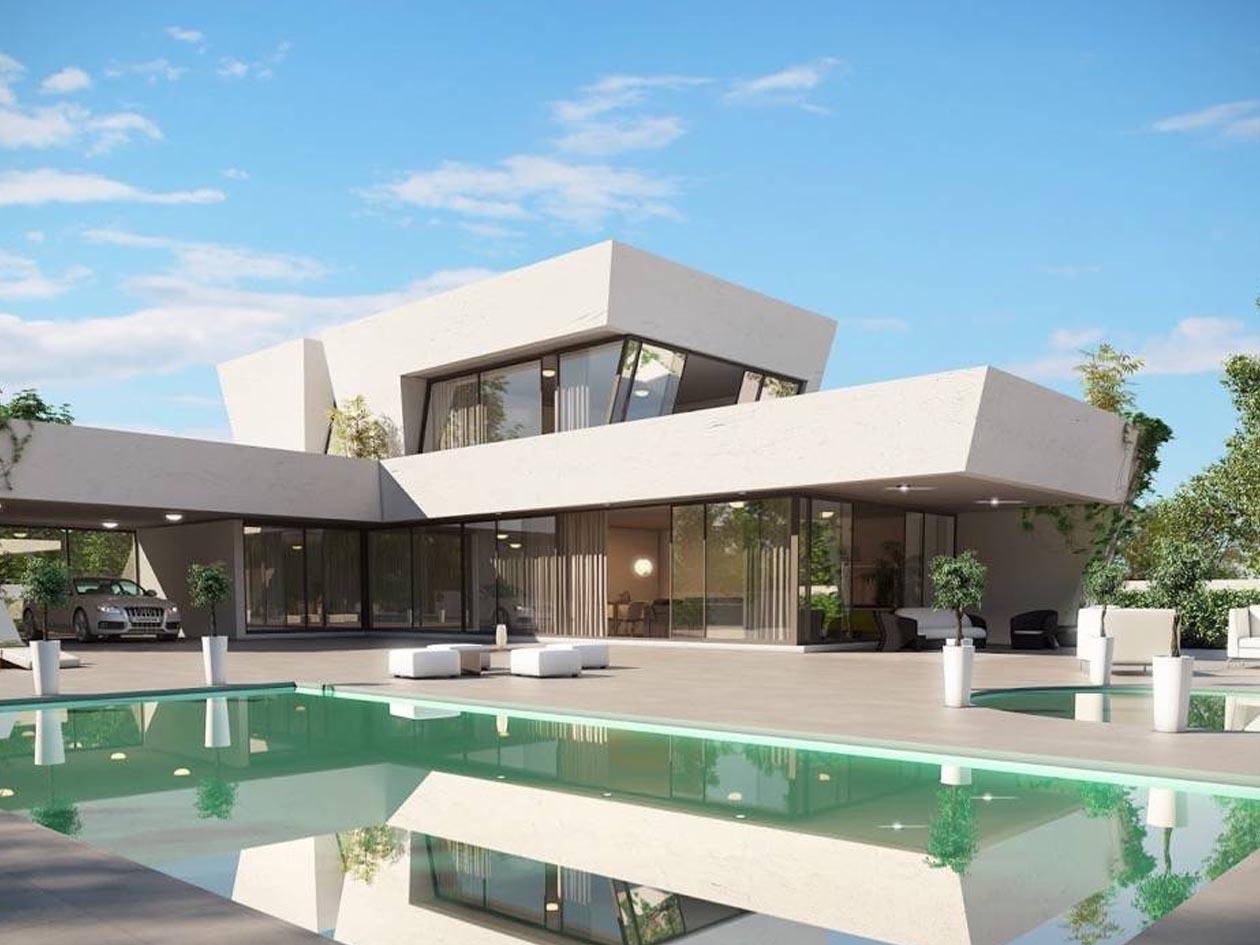 Villas de arquitectos marbesur for Casas modernas granada